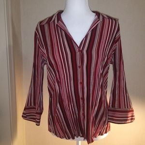 2for20 Women's Fred David Button Down Blouse Top